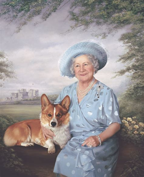 queen elizabeth s dog portraits mara mcgregor royal portrait painter