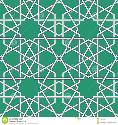 arabic seamless pattern vector arabic mosaic royalty free stock images image 31576069