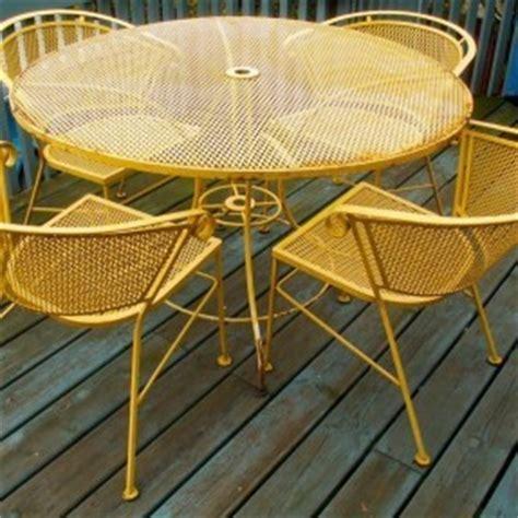 Vintage Iron Patio Furniture Hollywood Thing Yellow Patio Furniture