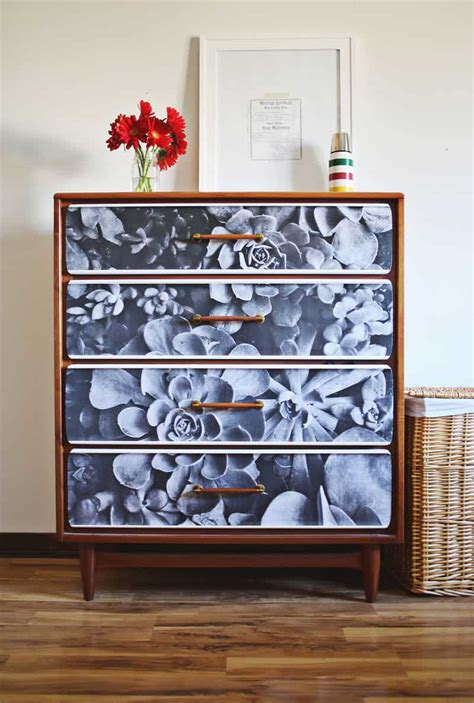 How To Decoupage Furniture With Mod Podge - furniture restyle photo decoupage dresser mod podge rocks
