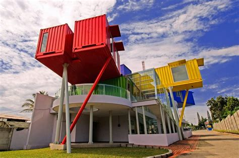 designboom indonesia dpavilion architects amin shipping container library