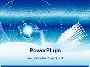 powerpoint template technology vector file of futuristic technology blue color background