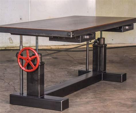 crank adjustable height desk height adjustable crank desk interwebs