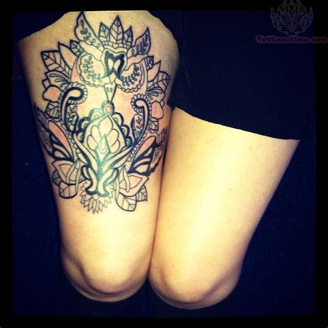 owl tattoo thigh pretty thigh tattoo 2 owl thigh tattoo on tattoochief com