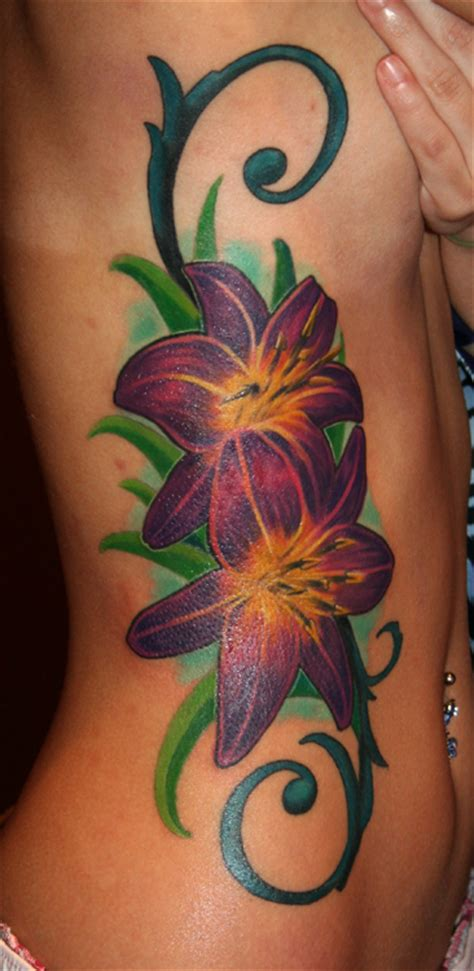 side flower tattoo flower tattoos on side all about