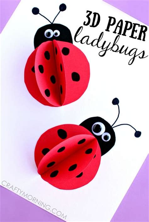 ladybug paper craft 3d paper ladybug craft for summer and for