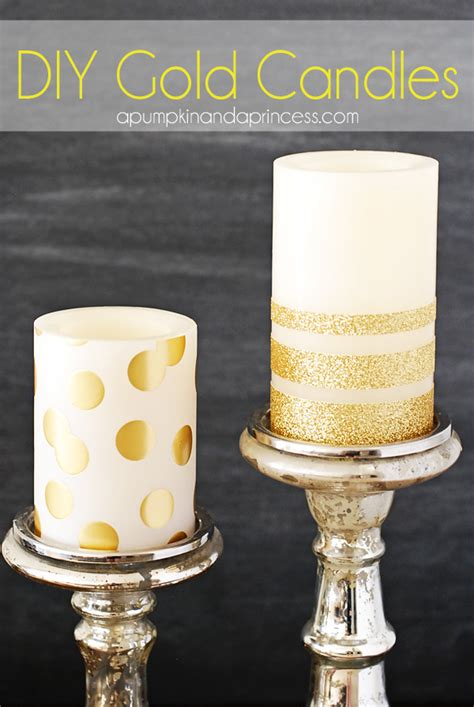 how to make a glitter candle diy home decor 187 the real diy gold glitter candles for your candleimpressions