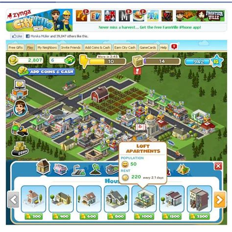 design game economy cityville review city building on facebook