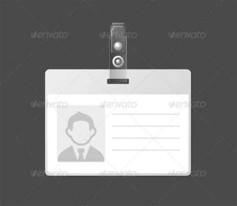 id card badge template 40 blank id card templates psd ai vector eps doc