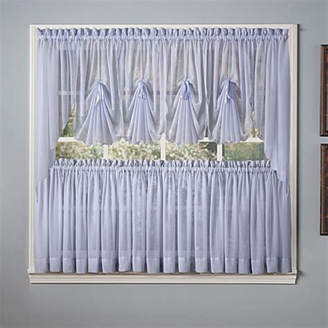 blue swag curtains emelia window curtain swag valance in sky blue bed bath