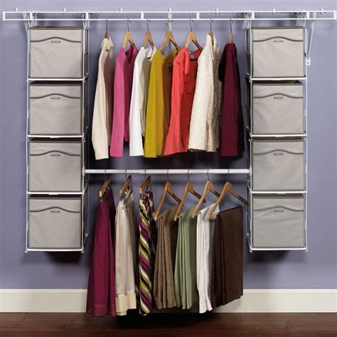 Rubbermaid Closet Solutions by Rubbermaid Closet Helper Max Add On Organizer Closet