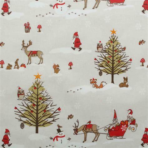 xmas vintage christmas santa cotton wipeclean pvc