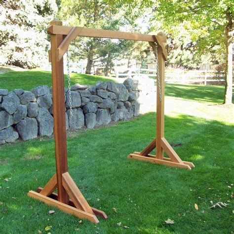 patio swing with stand hammock swing stand frame wine country cedar porch swing