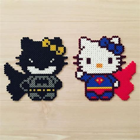 perler bead hello batman and superman hello perler original