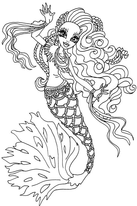 monster high dracubecca coloring pages sirena vonboo mu 241 ecas monster high