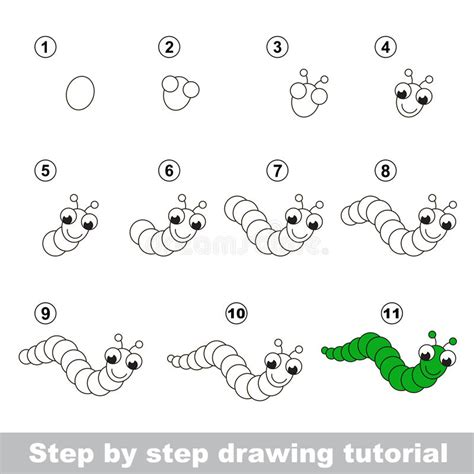 tutorial vector juego tutorial del dibujo c 243 mo dibujar caterpillar divertido