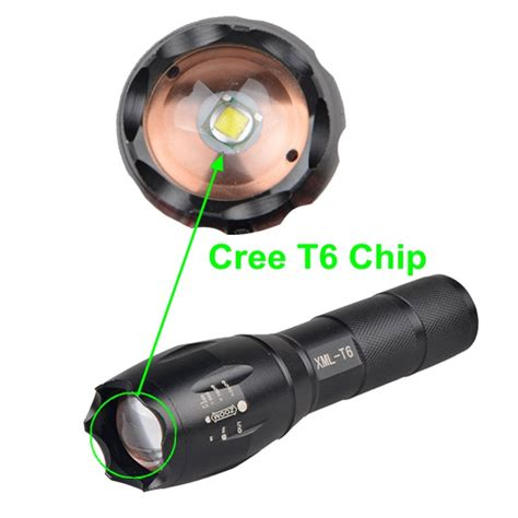 New Senter Led Cree Laser Terang E17 Xm L T6 2000 Lumens 18650 3 X powerful rechargeable new tactical g700 flashlight buy