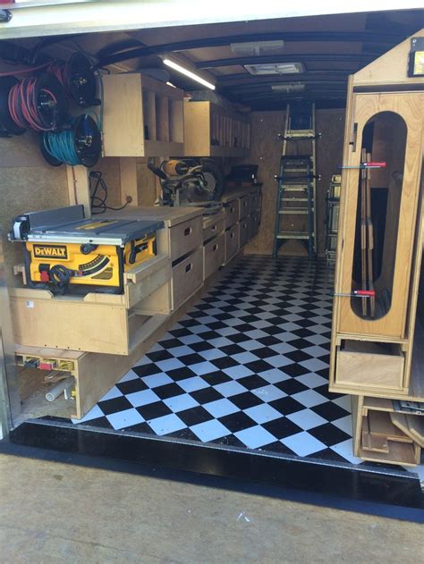 work trailer layout ron paulk inspired trailer design contractor trailer