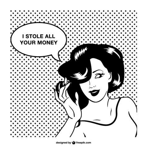 Imagenes De Historietas Retro | dise 241 o de mujer retro estilo c 243 mic descargar vectores gratis