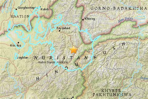 earthquake asia massive earthquake hits afghanistan and tremors felt as