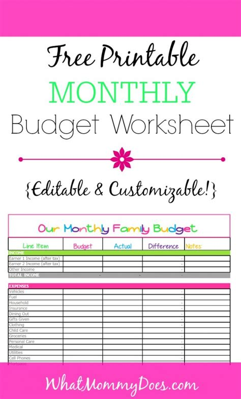 Free Monthly Budget Template Cute Design In Excel Free Budget Template