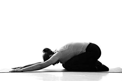 childs pose balasana yoga simple