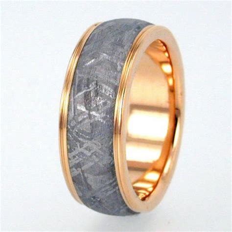 pattern for gold rings gibeon meteorite ring with widmanstatten pattern gold