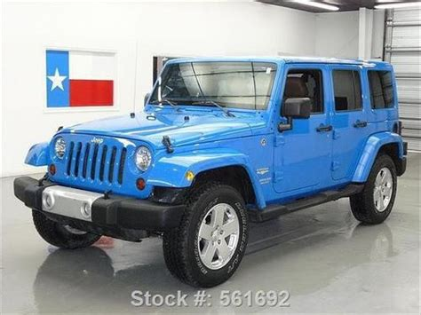 Used Jeep Wrangler Tx Sell Used 2011 Jeep Wrangler 4x4 4dr Cosmo Blue Nav