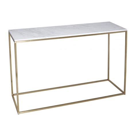 marble console table buy white marble and gold metal console table from fusion