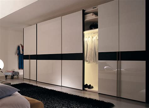 black and white wardrobe with sliding doors decoist