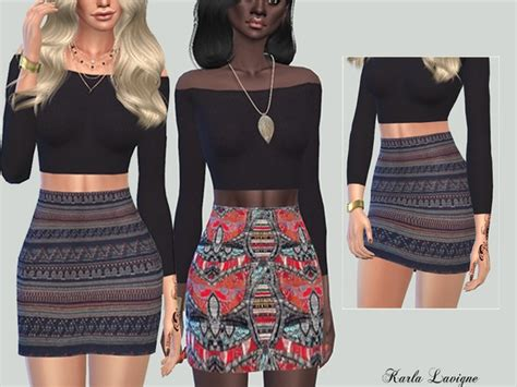 download hair and clothes for sims 4 the sims resource etnique skirt by karla lavigne sims 4