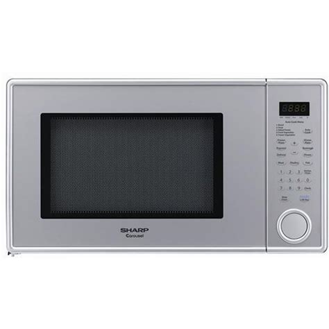 Microwave Sharp R 668r sharp r 409yv family size 1 3 cu ft 1000w microwave oven in pearl silver