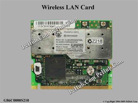 Wifi Card Laptop Toshiba Satellite C800d toshiba satellite a10 series wireless lan card