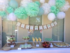 bridal shower table decorations bridal shower mint to be tissue paper pom decorations
