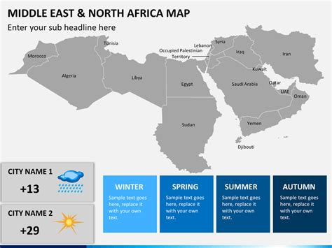 middle east map zoom middle east and africa mena map powerpoint