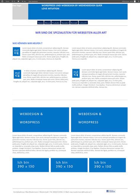 wordpress layout shortcodes wordpress themes von mediendesign quer basic blue wp