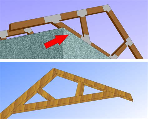 build  simple wood truss  steps  pictures