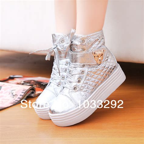 silver high top sneakers s gold silver high top sneakers leopard lace up