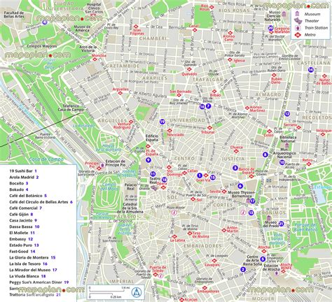best cafes in madrid madrid map best restaurants cafes dining map of madrid