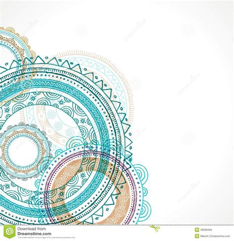 tribal bohemian mandala background with round stock vector
