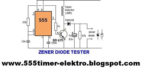 testing of diode and transistor 555 timer circuits zener diode tester with 555 timer