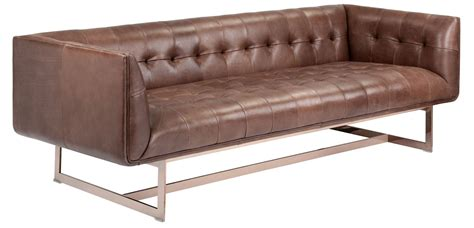 Saddle Leather Sofa by Matisse Saddle Leather Sofa 100573 Sunpan Modern Home
