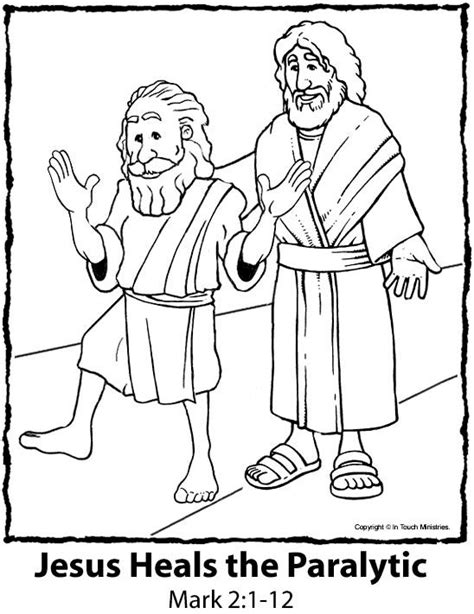 coloring pages jesus heals the paralyzed the world s catalog of ideas