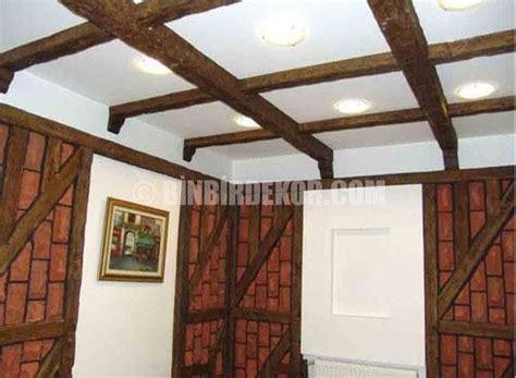desain plafon rumah  bambu carles
