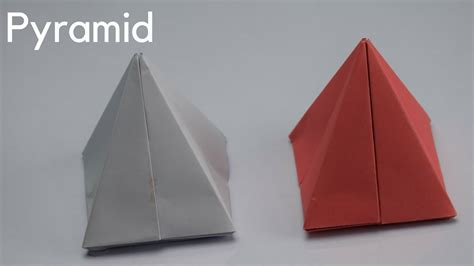 A Paper Pyramid - how to make paper pyramid easy diy craft ideas