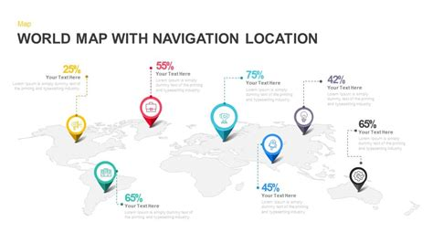 powerpoint 2013 template location world map with navigation location powerpoint and keynote
