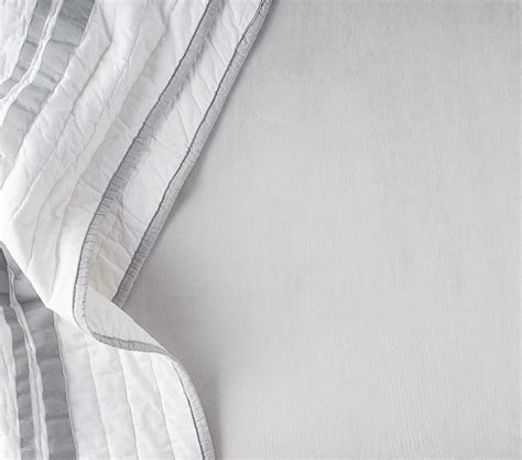 Chamois Crib Sheets by Luxe Chamois Crib Fitted Sheet Pottery Barn