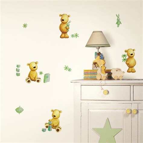 green wall stickers teddy green wall decals rosenberryrooms