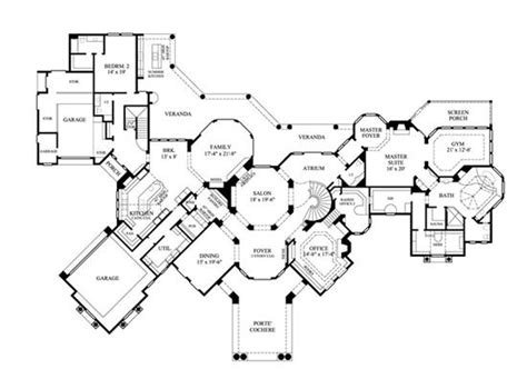 floor plans for luxury homes luxury house plans with basement and elevator cottage