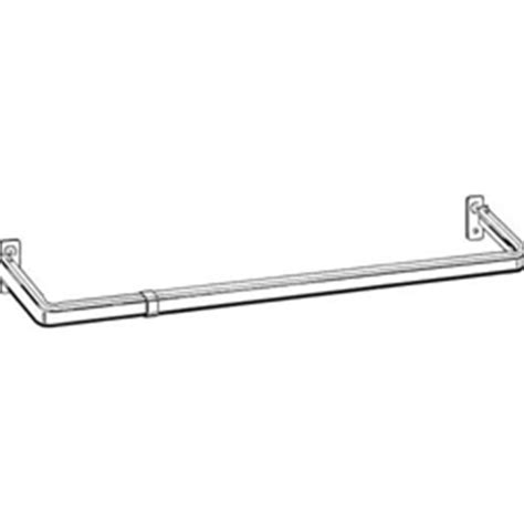 curtain rod clearance kirsch lockseam curtain rod 18 quot 28 quot wide clearance 1 1 4 quot